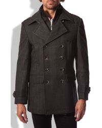 7 Diamonds Glasgow Trim Fit Double Breasted Coat - Lyst