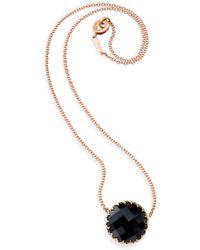 Ivanka Trump Rose Gold & Center Stone Necklace - Lyst