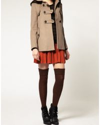 ASOS Collection  Wool Cable Over The Knee Socks brown - Lyst