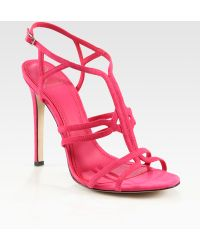 B Brian Atwood - Florrina Suede High-heel Sandals - Lyst