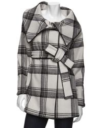Exclusive For Intermix - Exclusive Oversized Plaid Coat - Lyst