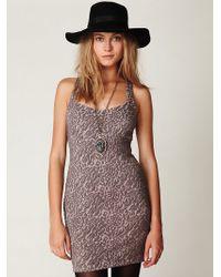 Free People Animal Knit Bodycon Dress - Lyst