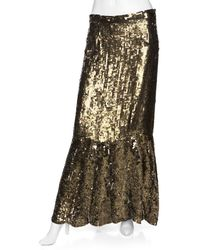 Gryphon - Preorder Exclusive Sequin Maxi Skirt: Gold - Lyst
