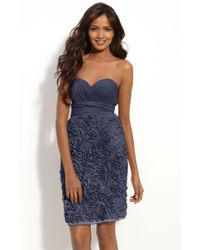 JS Collections Strapless Chiffon Dress - Lyst