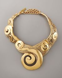 Oscar de la Renta Swirl Collar Necklace - Lyst