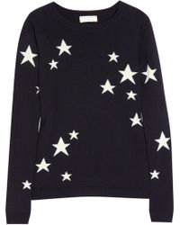 Chinti & Parker Star-Intarsia Cashmere Sweater blue - Lyst