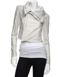 Georgie - Preorder Exclusive Distressed Moto Jacket: White - Lyst