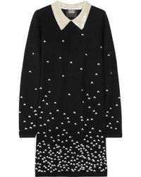 Markus Lupfer Emma Embroidered Merino Wool Dress - Lyst
