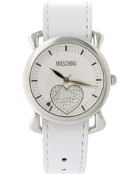 Moschino - Watch With Dual Leather And Silk Straps - Lyst