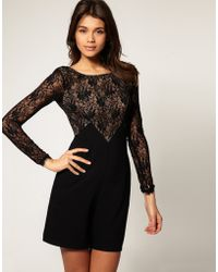 ASOS Collection Asos Playsuit with Lace Bodice - Lyst