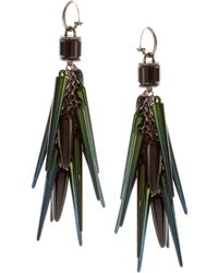 ASOS Collection Asos Spike and Beetle Shell Drop Earrings blue - Lyst