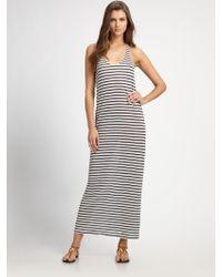 Joie Striped Linen Maxi Dress blue - Lyst