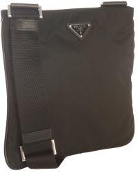 Prada Black Nylon Zip Small Messenger Bag - Lyst
