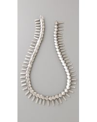 Giles & Brother - Silver Oxide Petal Fringe Necklace - Lyst