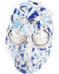 Alexander McQueen Skull Cocktail Ring silver - Lyst
