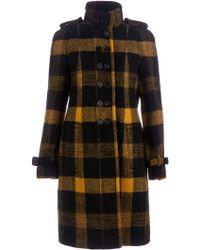 Burberry Prorsum Check Pattern Coat - Lyst