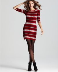 French Connection Pop Knits Arabian Sweater Dress red - Lyst
