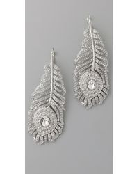 Kenneth Jay Lane Feather Earrings - Lyst