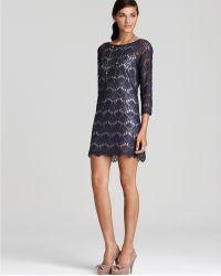 Tibi Long Sleeve Swan Lace Dress - Lyst