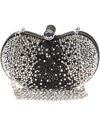 Karen Millen Diamante Clutch Bag black - Lyst
