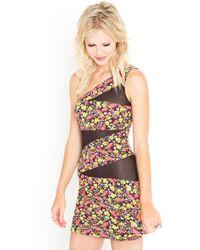 Nasty Gal Electric Garden Dress - Lyst