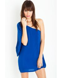 Nasty Gal Serious Flare Dress - Cobalt - Lyst