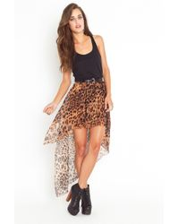 Nasty Gal Get It Skirt - Leopard animal - Lyst