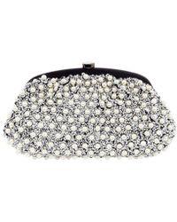 Santi - Beaded Pearl Clutch Bag - Lyst