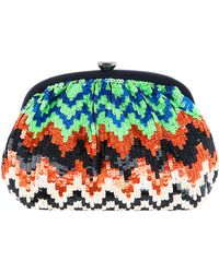 Santi - Zigzag Sequin Clip Clutch Bag - Lyst