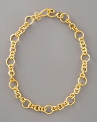 Stephanie Anne Coronation Chain Necklace gold - Lyst