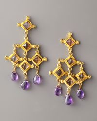 Stephanie Anne Venetian Chandelier Earrings gold - Lyst