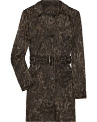 W118 by Walter Baker Jenny Printed Twill Trench Jacket - Lyst