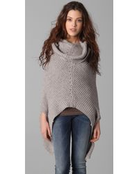 JNBY - Convertible Poncho Sweater - Lyst
