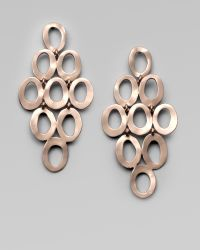 Ippolita 18K Gold & Sterling Silver Oval Cascade Earrings - Lyst