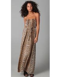 Twelfth Street Cynthia Vincent - Strapless Maxi Dress - Leopard - Lyst