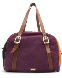 Mango Leather Bowling Handbag - Lyst