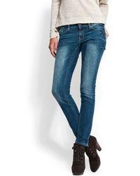 Mango Superslim Leg Cropped Jeans - Lyst