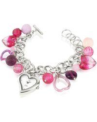 Antica Murrina - Stardust - Murano Glass Heart Charm Bracelet Watch - Lyst