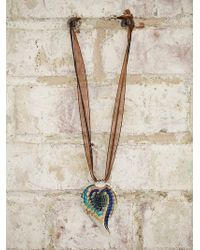 Free People Vintage Hand Blown Glass Necklace - Lyst