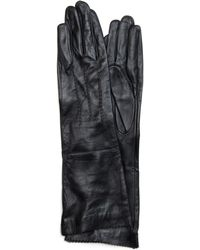 Mango Touch - Long Leather Gloves - Lyst