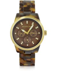 Michael Kors Tortoise Jet Set Watch - Lyst