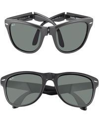 Ray-Ban Wayfarer Folding - Square Acetate Sunglasses black - Lyst