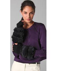 3.1 Phillip Lim - Fur Long Fingerless Gloves - Lyst