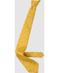 Borsalino Tie yellow - Lyst