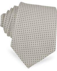 Dolce & Gabbana Polkadot Pattern Silk Narrow Tie - Lyst