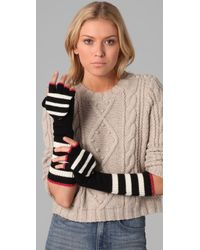 Juicy Couture - Williams Rugby Stripe Pop Top Mittens - Lyst
