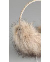 Juicy Couture - Faux Fur Earmuff Speaker Headphones - Lyst