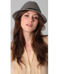 Juicy Couture - Felt Fedora with Patent Band - Lyst