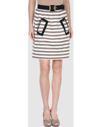 Moschino Cheap & Chic Knee Length Skirt white - Lyst