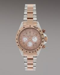Toy Watch - Chronograph Heavy Metal Watch, Rose Golden - Lyst